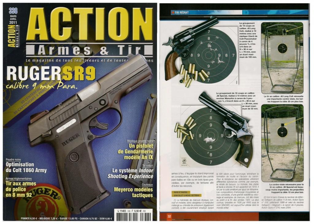 Le banc d'essai du système « Indoor Shooting Experience » de Pedersoli a été publié sur 5 pages dans le magazine Action Armes & Tir n°338 (mars-avril 2011)