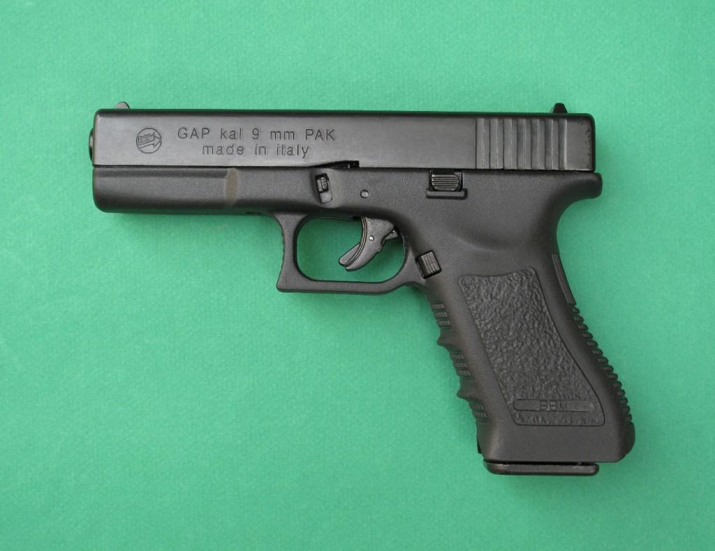 Essai armes pistolet d alarme bbm bruni gap copie for Arme defense maison