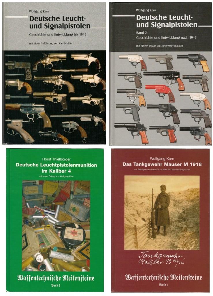 Quelques uns des ouvrages de référence écrits par Wolfgang Kern (dont il n'existe malheureusement pas de traduction française). Vous pouvez visiter son site Internet : www.leuchtpistolen.de