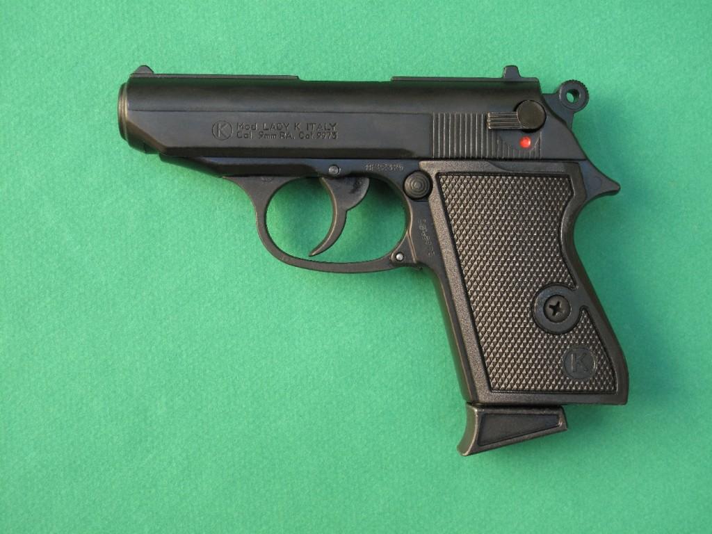 Le Kimar modèle « Lady K » est une copie du Walther PPK. Ce pistolet d'alarme à chargeur de 5 coups permet le tir des cartouches de calibre 9 mm PAK à blanc, des cartouches Flash, des cartouches lacrymogènes (à gaz CS ou OC), des étoiles lumineuses de 15 mm (grâce à l'embout lance-fusée fourni avec l'arme) et des munitions de défense SAPL Self-Gomm à balle caoutchouc de diamètre 18 mm (au moyen d'un embout spécial non fourni).
