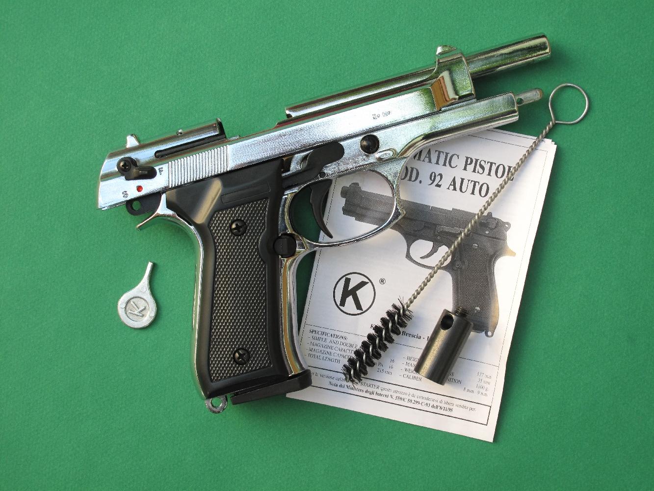 essai armes pistolet d alarme kimar mod le 92 copie du beretta 92. Black Bedroom Furniture Sets. Home Design Ideas