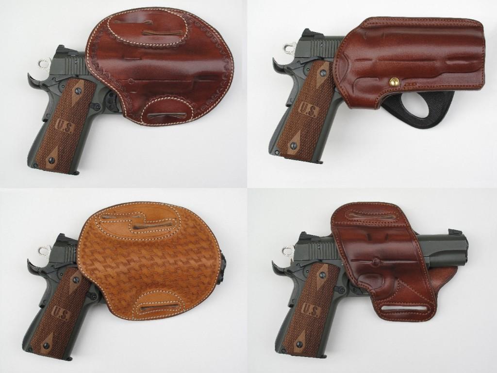 Pour le choix d'un holster destiné au SIG-Sauer 1911-22, copie du Colt 1911 A1, nous nous sommes rendus à la « Sellerie du Thymerais », où sont fabriqués artisanalement les étuis en cuir.